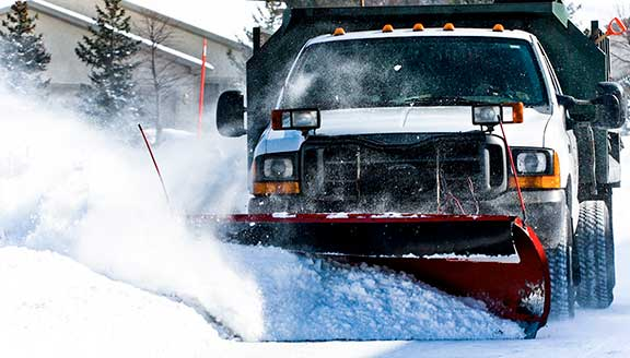 Snow removal and salting residential walkways and driveways