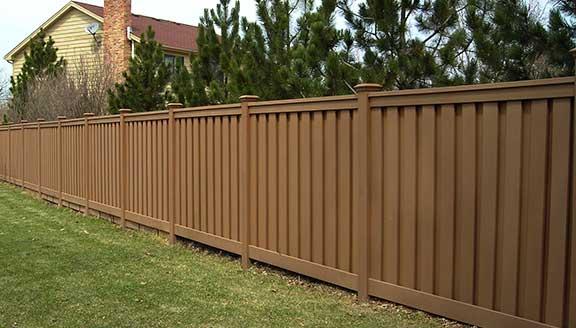 Composite Fence Installation Plastic Clad Wood Fencing Installation