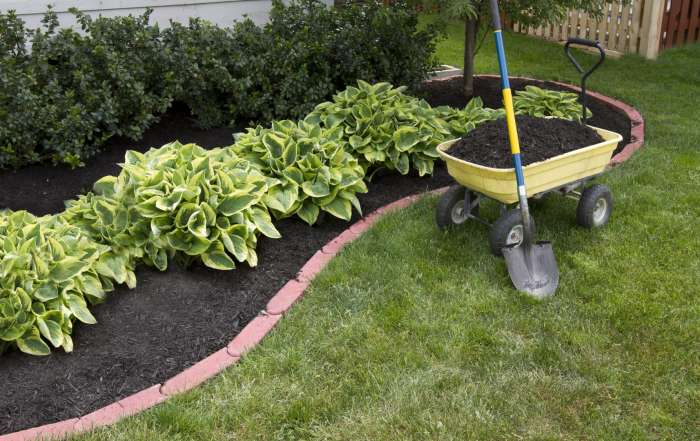 Landscaping Mulch Installation & Flower Beds