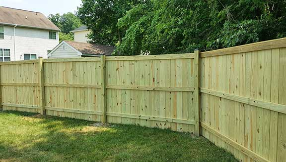 Pressure Treated Fence Installation Wolmanized Wood Fencing Installers
